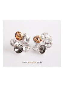 <br> mix cubic Flower earring <br><br>