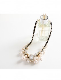 <br> Marie cubic pearl chain Necklace <br><br>