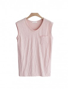 <br> Susan pocket slab Sleeveless shirts <br><br> [Return and exchanged products;