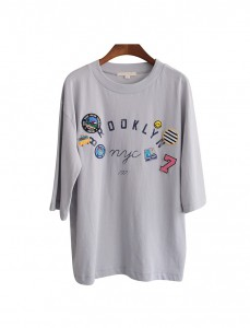 <br> Brooklyn Patch Short Sleeve Tee <br> <b><font color=#6b0e04>4th tee goods</font></b>