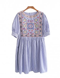 <br> Chloe embroidery Ruched Dress <br><br>