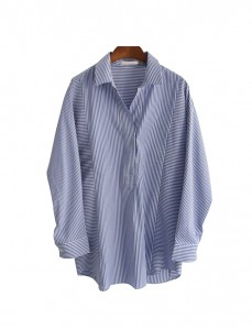 <br> French Tick Button Shirt <br> <b><font color=#253952>Blouse 2 above products</font></b>