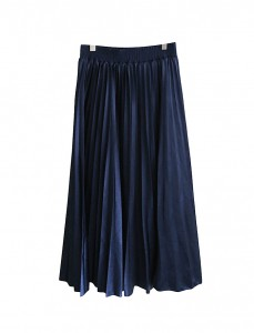 <br> Shine Pleats Long Skirt <br><br>