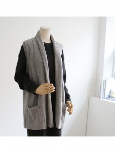<br> Pocket Shawl Cashmere Vest <br><br>