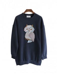 <br> Spangle owl napping Man to man Tee <br><br>