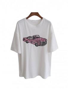 <br> Spangle Tee Pink Car <br><br>