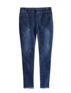 <br> Cutting Skinny Banding Denim Pants <br><br>