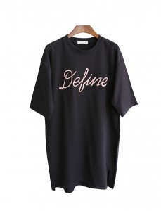 <br> Long Tee embroidered dipain <br><br>