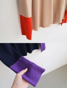 <br> Sleeve color combination Knit <br><br>