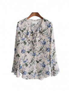 <br> Lobelia Flower Blouse <br> <b><font color=#253952>Blouse 3 above product</font></b>