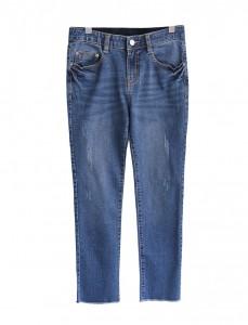 <br> Natural Straight Banding Denim Pants <br><br>