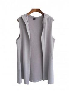 <br> Layered Hood Vest <br><br>