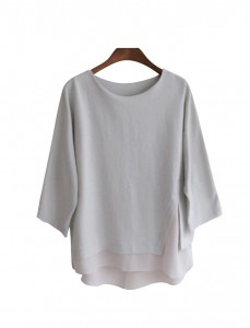 <br> Slit Chiffon color combination Tee <br><br>
