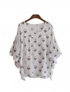 <br> Square-necked Blouse <br><br>