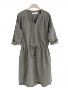 <br> Emily Linen string Dress <br><br>