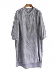 <br> Novelle Stripe Button Dress <br><br>