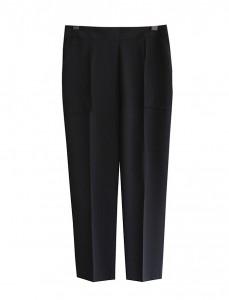 <br> Black Pocket Back Bending Semi Pants <br><br>