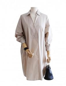 <br> Maison back button Long Shirt <br><br>