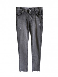 <br> Gray Cutting Denim Pants <br><br>