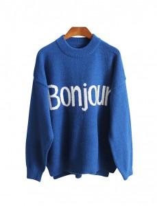 <br> Bong Ju Lettering Knit <br> <b><font color=#253952>Knit 1st place</font></b>
