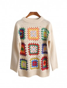 <br> Square Embroidery Knit <br> [Not returned or exchanged;