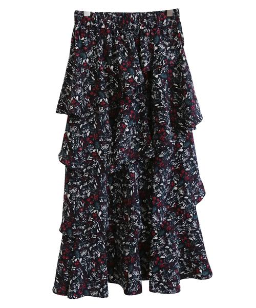 <br> Flower Freel Banding Skirt <br> <b><font color=#253952>Skirt 4th item</font></b>