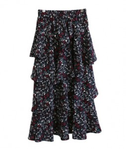 <br> Flower Freel Banding Skirt <br> <b><font color=#253952>Skirt 4th item</font></b>
