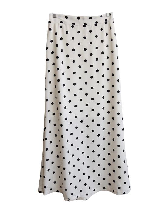 <br> Dot Bending Long Skirt <br><br>