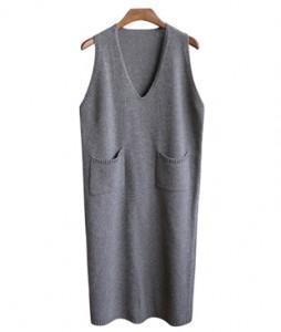 <br> Pocket layered Knit Dress <br><br>