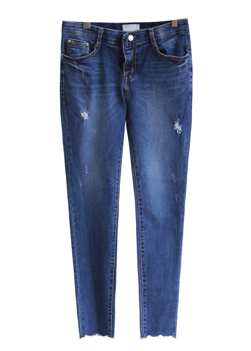 <br> Light Blue Cutting Denim Pants <br> [Not returned or exchanged;