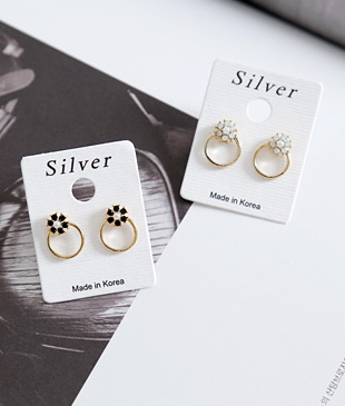 <br> Flora Silver Post earring <br><br>