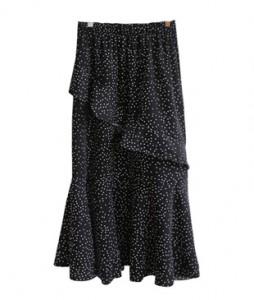 <br> Dot Freel Banding Skirt <br> [Not returned or exchanged;