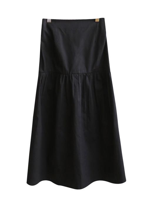 <br> Cotton Shirring Back Bending Long Skirt <br> <b><font color=#253952>Skirt third place goods</font></b>