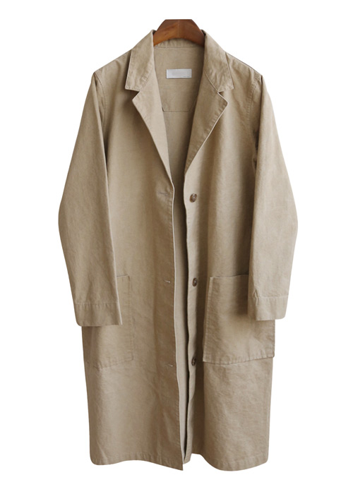 <br> single button Washing Long Jacket <br><br>