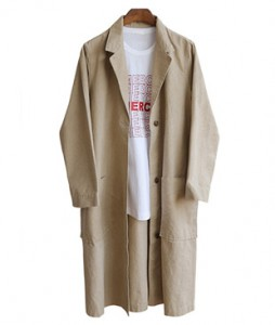 <br> single button Washing Long jacket <br> <b><font color=#253952>Outer 2 items</font></b>