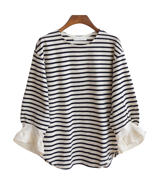 <br> Sleeveless Freel Stripe Tee <br><br>