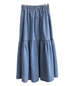 <br> Denim Long Skirt <br><br>