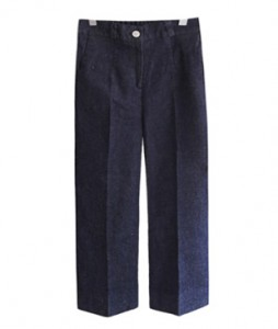 <br> unique wide rear banding Denim Pants <br> [Not returned or exchanged;