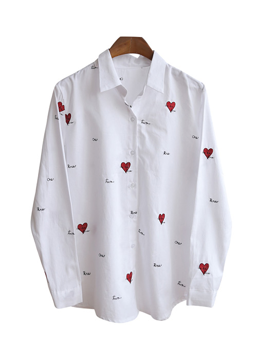 <br> One heart embroidery Shirt <br><br>