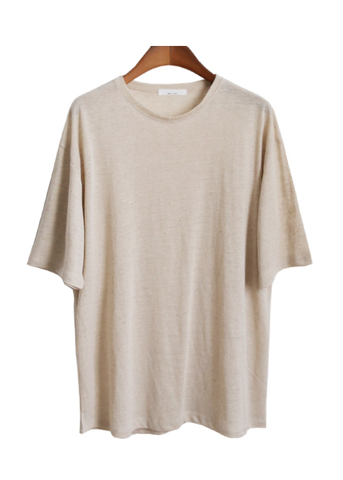 <br> Hand-rolled Linen Round Tee <br> [Not returned or exchanged;