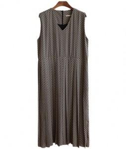 <br> Mott V-neck Pleats Long Dress <br><br>
