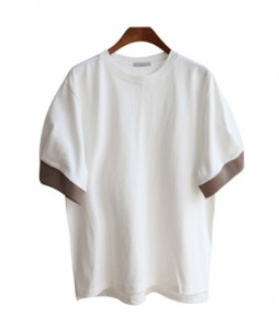 <br> Tulip sleeves color combination Tee <br><br>