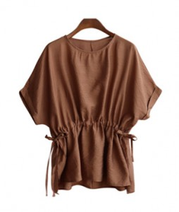 <br> Waste Shirring Blouse <br> [Not returned or exchanged;