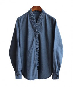 <br> Freel line Denim Blouse <br> [Not returned or exchanged;