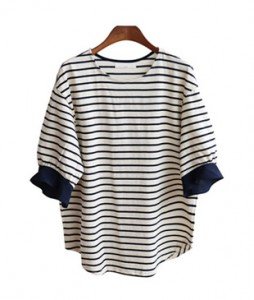 <br> S / S Sleeve Freel Stripe Tee <br><br>