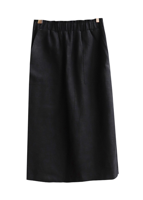 <br> Lamy Linen Banding Skirt <br> [Return can not be replaced]