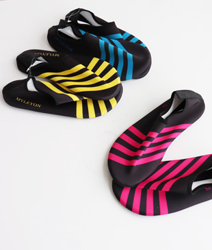 <br> Stripe Aqua Shoes <br> [Not returned or exchanged;