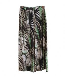 <br> Palms printing Banding Pants <br><br>