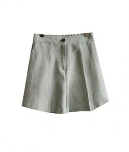 <br> Herringbone Back Bending Linen Shorts <br><br>