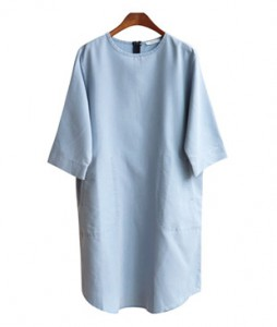 <br> Light blue Tencel Pocket Dress <br><br>